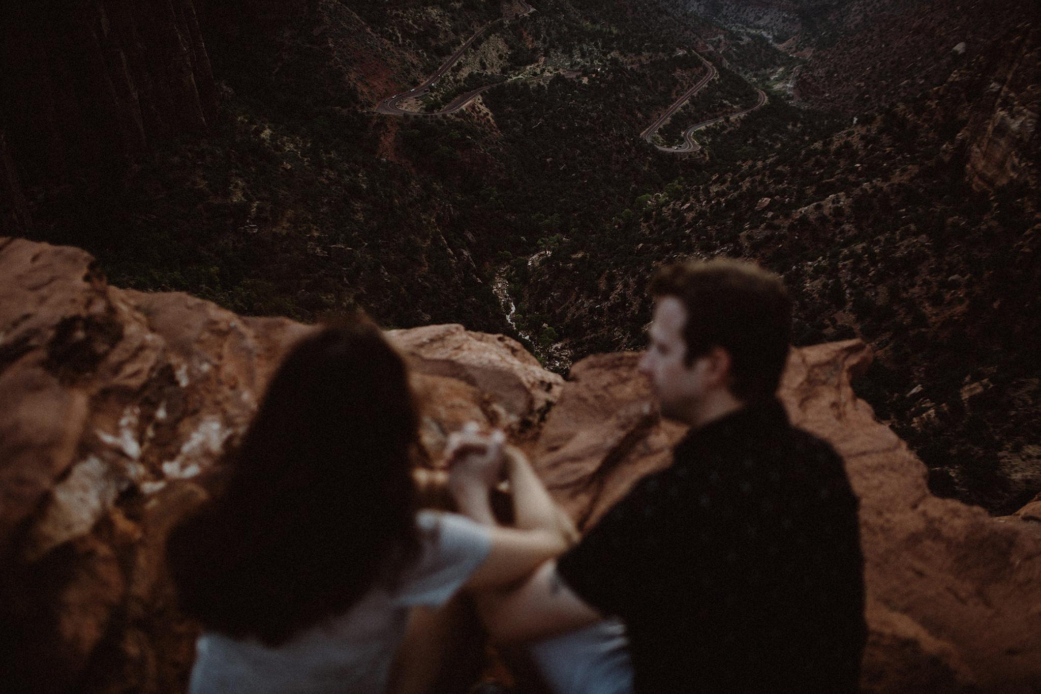 Wedding anniversary photos Zion National Park Utah